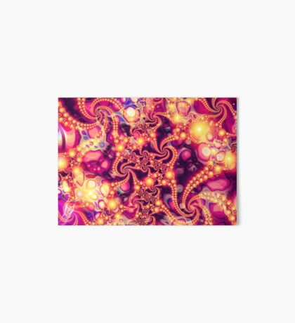 Falling Within (warm) - Psychedelic Fractal Abstract Art Board