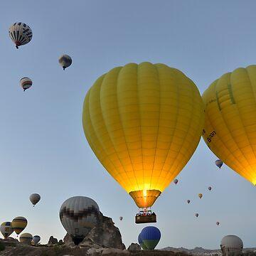 Takeoff - Cappadocia, Turkey by kasianowak