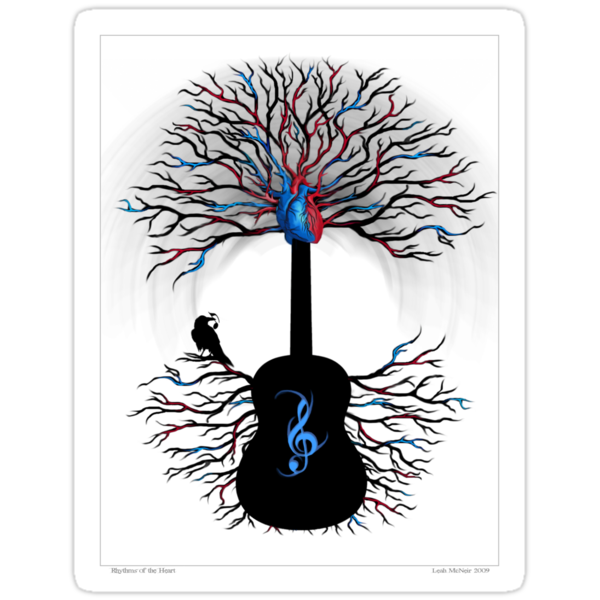 Rhythms of the Heart ~ Surreal Guitar by Leah McNeir