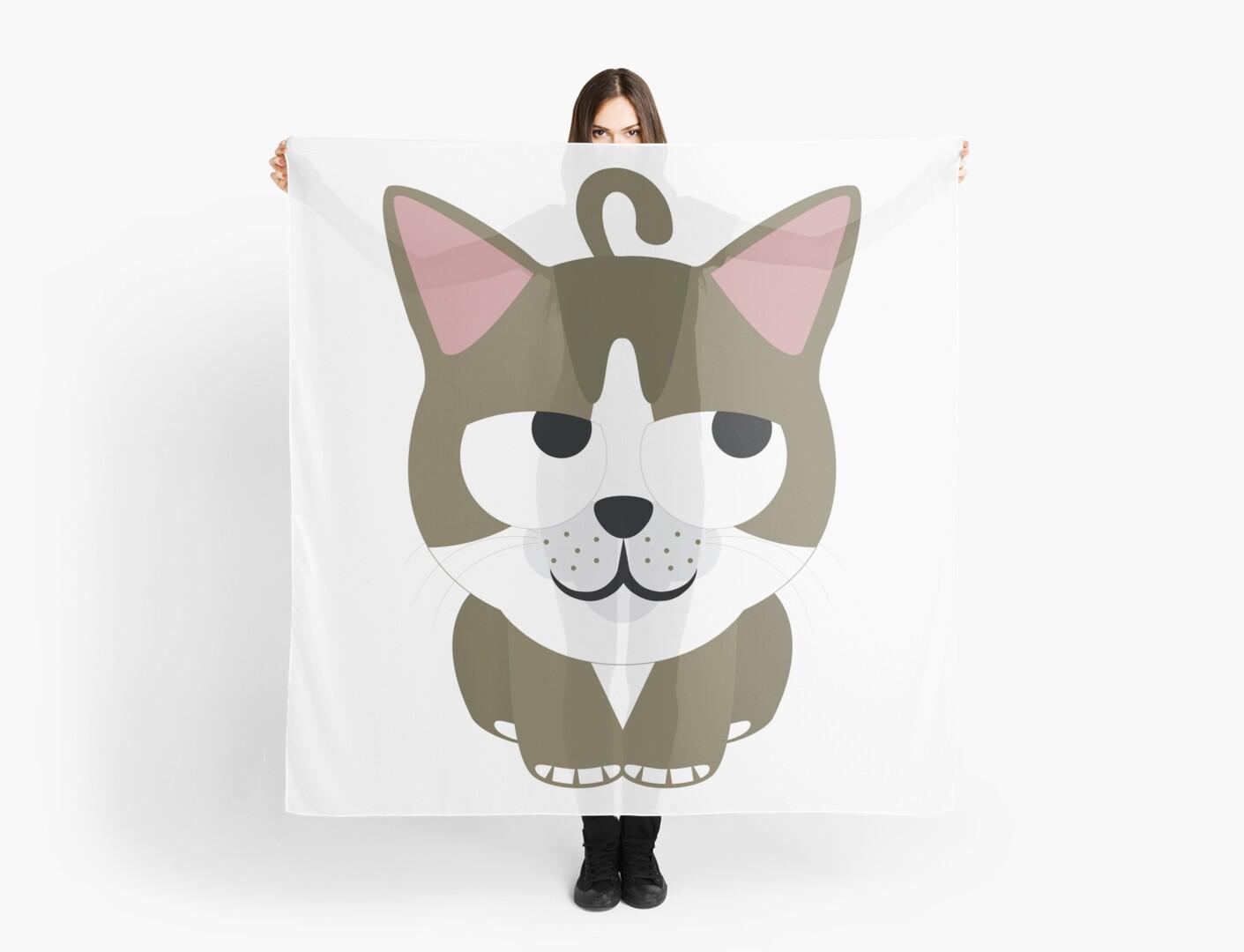 American short hair cat emoji thinking hard and hmm look by teeandmee