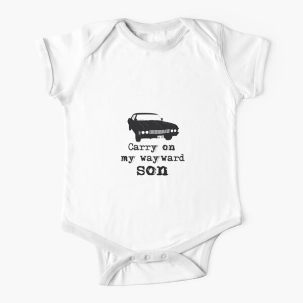 Carry on my wayward son Short Sleeve Baby One-Piece