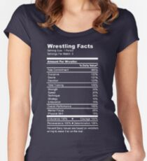 2f8e7dd3 Wrestling Facts Funny Wrestler Nutrition Guide Quote Fitted Scoop T-Shirt