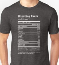 Wrestling Facts Funny Wrestler Nutrition Guide Quote T-Shirt
