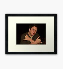 Matthew Supports Capitalism Framed Print