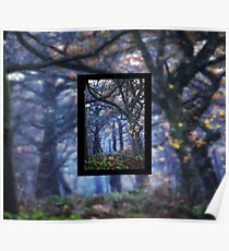 The Enchanted Forest Portrait with Single Border Poster
