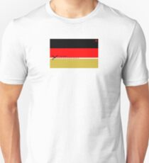 Schwarz - Rot - CUT HERE - Gold Unisex T-Shirt