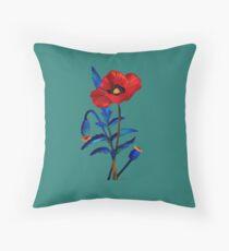Flower Poppy 11417 Throw Pillow