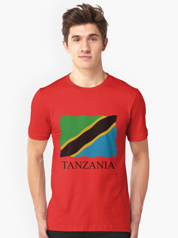 Tanzania flag Unisex T-Shirt Front