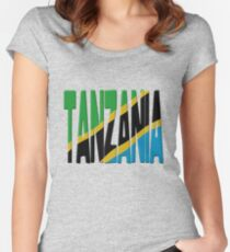 Tanzania flag Women's Fitted Scoop T-Shirt