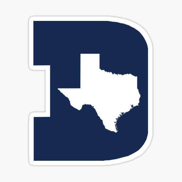 D Texas (Blue/White) Sticker