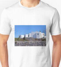 White simple buildings in Santorini, Greece T-Shirt