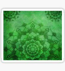 Emerald Green Lotus Mandala Sticker