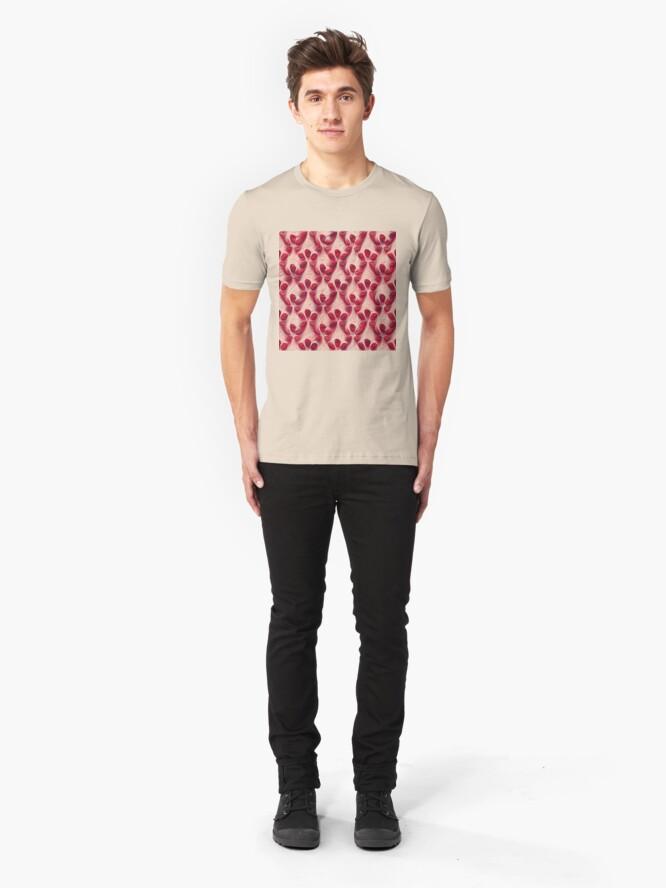 Alternate view of Pomegranate seeds #DeepDream Slim Fit T-Shirt
