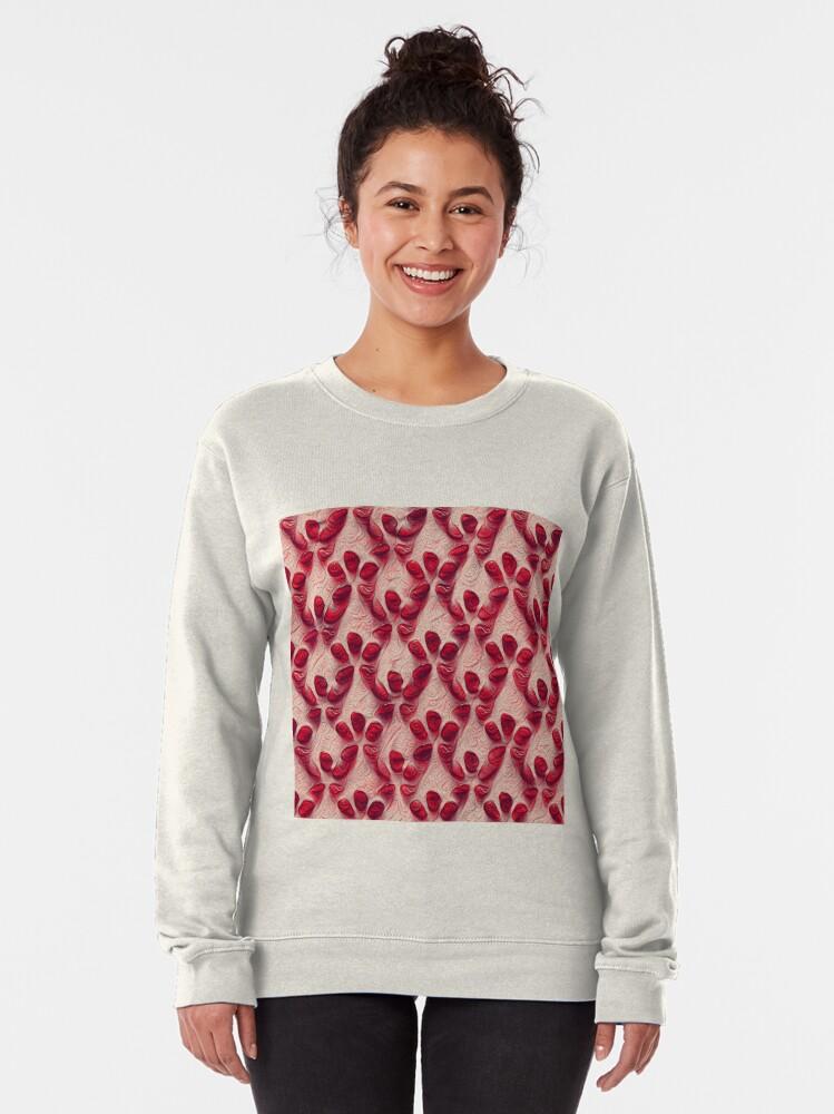 Alternate view of Pomegranate seeds #DeepDream Pullover Sweatshirt