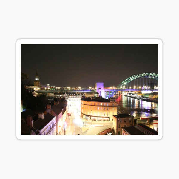 Newcastle Quayside From Above Sticker