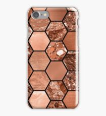 Rose gold hexaglam iPhone Case/Skin