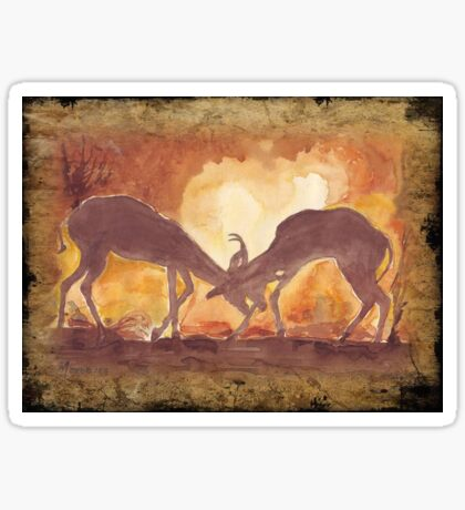 Lodge décor - Territorial Dance in the African sunset Sticker