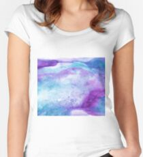 Amethyst watercolor Women's Fitted Scoop T-Shirt