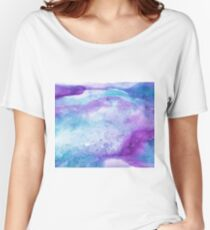 Amethyst watercolor Women's Relaxed Fit T-Shirt
