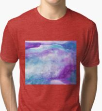 Amethyst watercolor Tri-blend T-Shirt