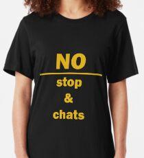 No, Stop & Chats Slim Fit T-Shirt