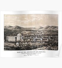 View of the University of Virginia - 1856 Poster