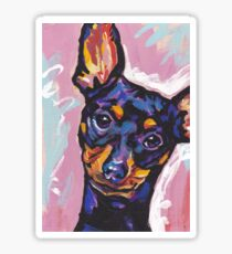 Miniature Pinscher Dog Bright colorful pop dog art Sticker