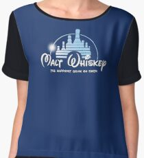 Malt Whiskey The Happiest Drink On Earth Women's Chiffon Top