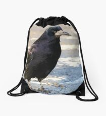 Roadside Rook Drawstring Bag