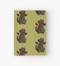 Chocolate Dragon on avocado Hardcover Journal