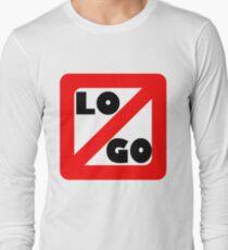 No Logo: split Long Sleeve T-Shirt