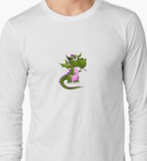 Pink and green Draco of the Dragon Long Sleeve T-Shirt