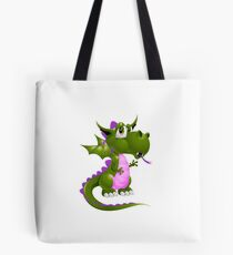 Pink and green Draco of the Dragon Tote Bag