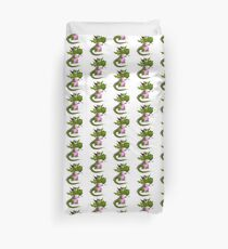 Pink and green Draco of the Dragon Duvet Cover