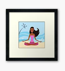 New in Shop : hand-drawn Joga / PINK Framed Print
