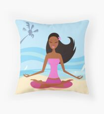New in Shop : hand-drawn Joga / PINK Throw Pillow