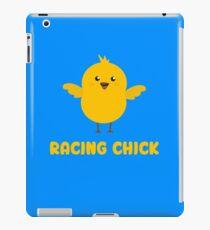 Racing Chick Cute Funny Women's  iPad Case/Skin