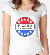 PICARD FOR PRESIDENT Women's Fitted Scoop T-Shirt