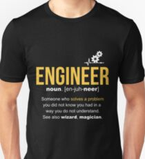 Engineer Definition Funny Gift  T-Shirt