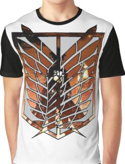 AOT - Eren logo Corps Red style Graphic T-Shirt