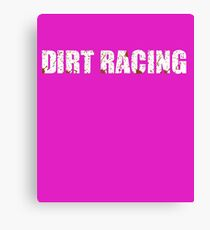 Dirt Racing Chick Cute Funny  Canvas Print
