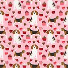 Beagle valentines day dog breed pet portrait dog lovers perfect gift i love you pet portrait by PetFriendly