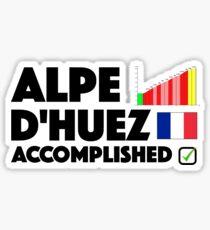 Alpe D'Huez Accomplished Cycling France Sticker