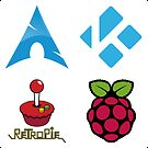 Arch Linux - Raspberry Pi Case Sticker by ChoccyHobNob