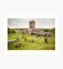 St Davids Cathedral, Pembrokeshire Art Print