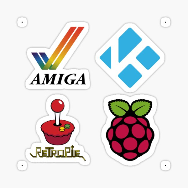 Amiga Tick & Wordmark - Raspberry Pi Case Sticker Sticker