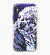 Poodle Dog Bright colorful pop dog art iPhone Case