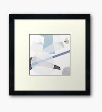 Digital construct, constructivism homage. Framed Print