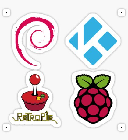 Debian Linux - Raspberry Pi Case Sticker Sticker