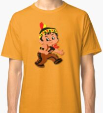 Cute retro Kid Billy as a Native Indian Classic T-Shirt